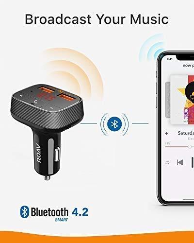 roav by anker smartcharge f0 fm transmisor bluetooth receive