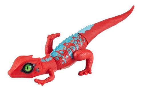 robô alive lagarto vermelho movimento real  zuru candide