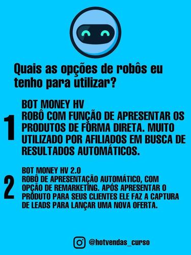 robô bot money hv 2.0