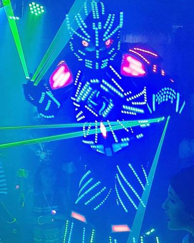 robô de led megatron festa casamento aniversário animação