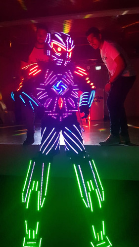 robô de led megatron pretender prime