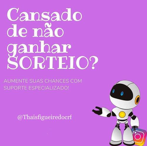 robô ganhador de sorteio (instagram)