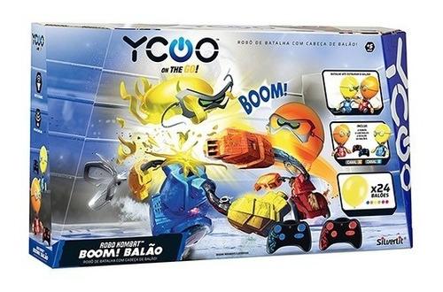 robô kombat batalha com cabeça boom balão dtc silverlit 5222