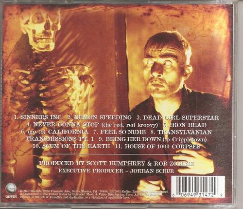 rob zombie  - cd original  - un tesoro musical
