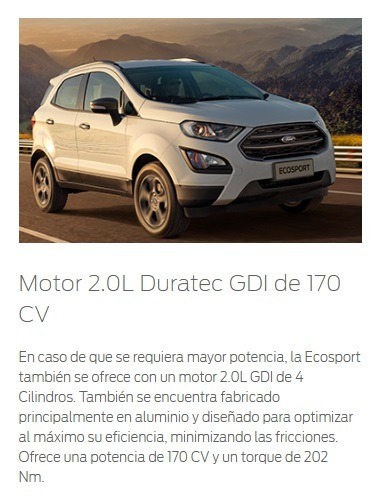 robayna | freestyle ford duratec ecosport 2.0 at gdi 4x4 0km