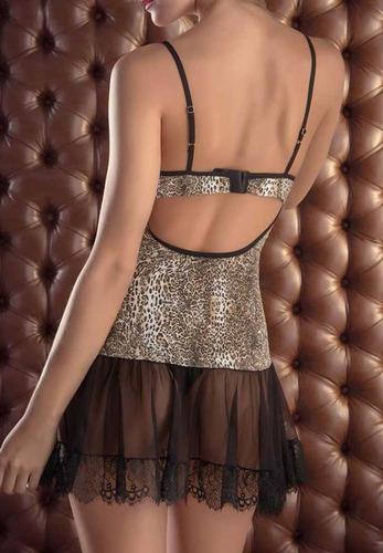 robe curto + camisola, renda, onça del laras 2350-2341
