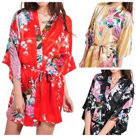 c9e44aa0ebbd12 Robe De Cetim Floral Quimono Japones Kimono Roupão