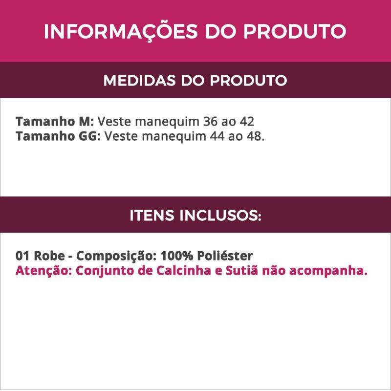 9310820f724ca4 Robe Feminino Preto Em Renda C/ Fita De Cetim - Frete Grátis