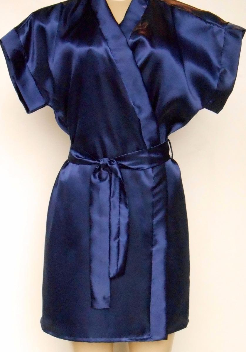 f491173e6378ac Robe Roupão Cetim Noiva Kit 10 Peças Manga Japonesa