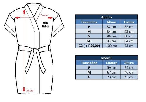 robe / roupão personalizado dia da noiva / madrinha bordado
