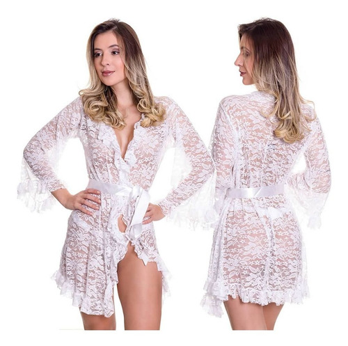 robe sex roupão preto, rosa ou branco [ camisola sexy ]