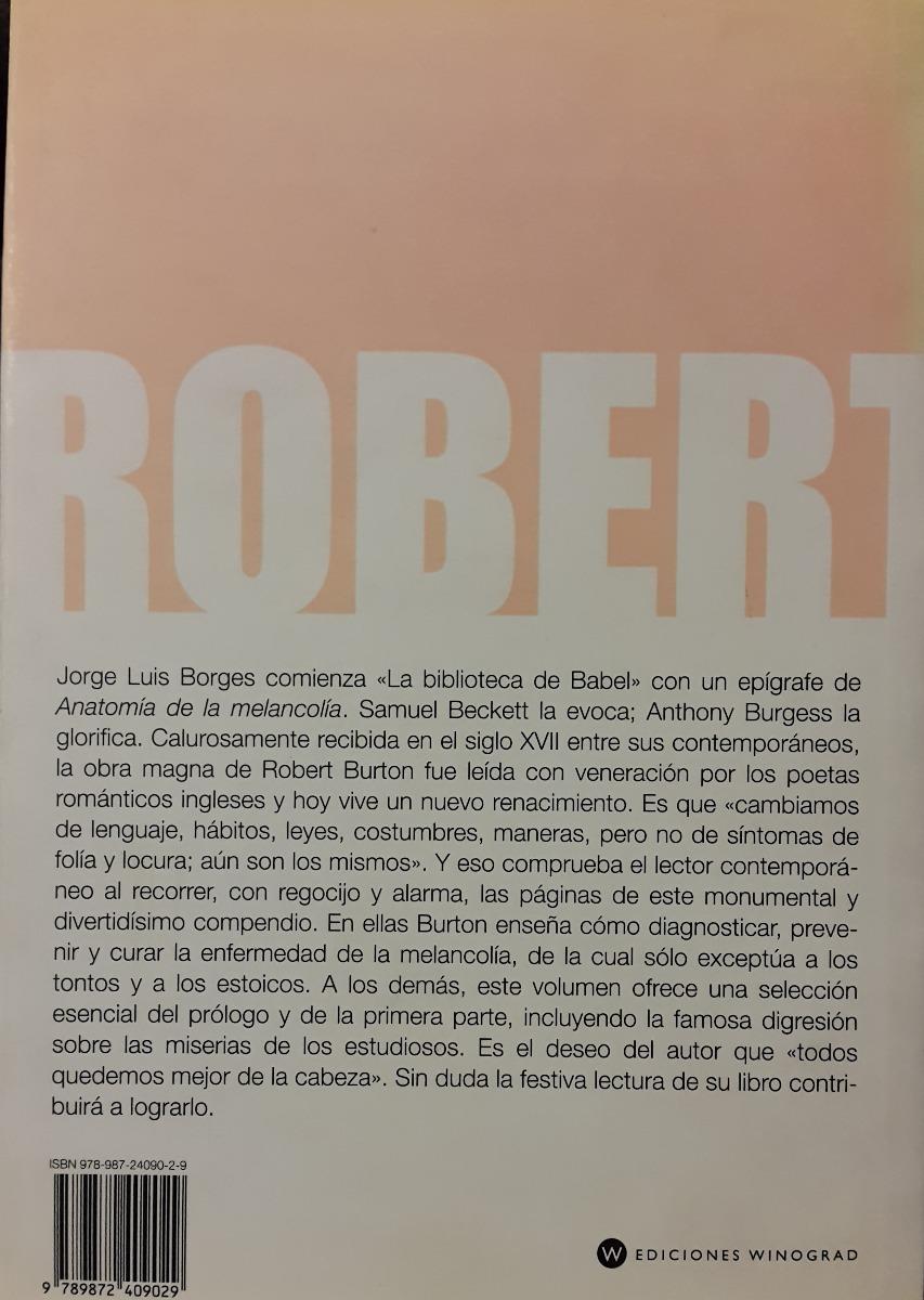 Robert Burton - Anatomía De La Melancolía (winograd) - $ 300,00 en ...