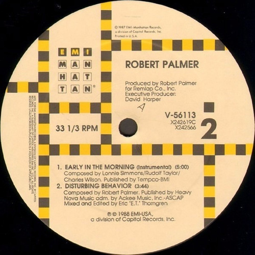 robert palmer - early in the morning vinilo maxi made in u s