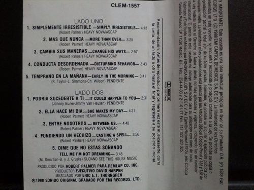 robert palmer: heavy nova. cassette 1ra edición 1988 méxico