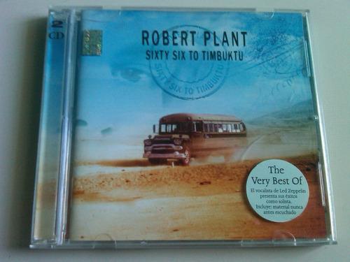 robert plant sixty six to timbuktu 2 cds usado nacional led