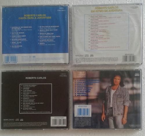 roberto carlos  04 cds usados e conservados