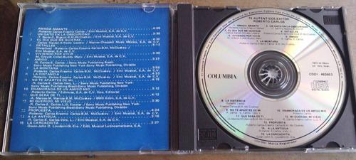 roberto carlos 15 autenticos exitos cd  ed 1991 fdp