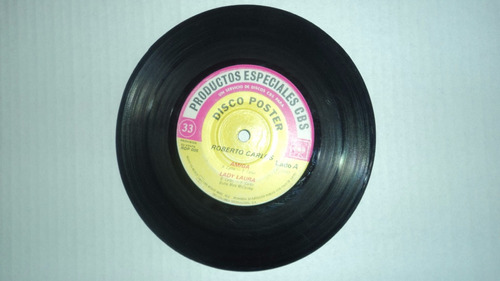 roberto carlos 45 rpm disco poster raro de coleccion 1983
