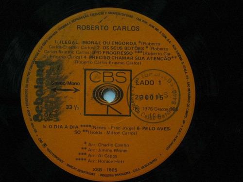 roberto carlos lp 1976 ilegal imoral ou engorda