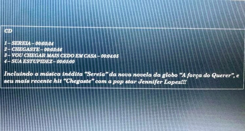 roberto carlos - novo - ep  cd com 4 músicas embalagem digip