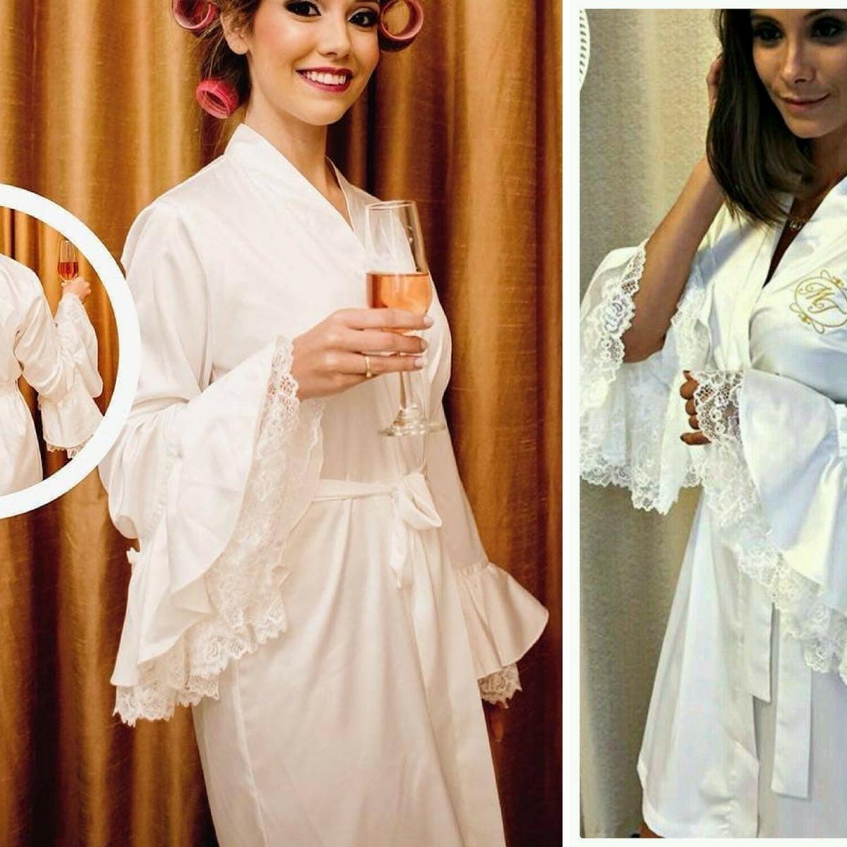 6f868e7c2 robi luxo roupao cetim robby robe noiva roby hoby casamento. Carregando  zoom.
