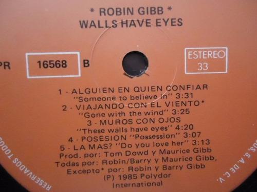 robin gibb / walls have eyes vinyl lp acetato