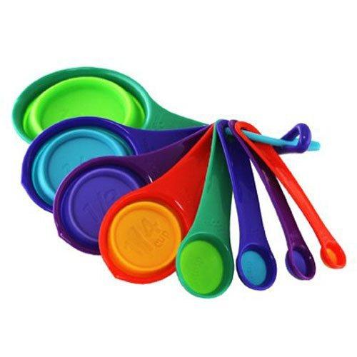 robinson home products tazas / cuchara squish de 8 piezas,