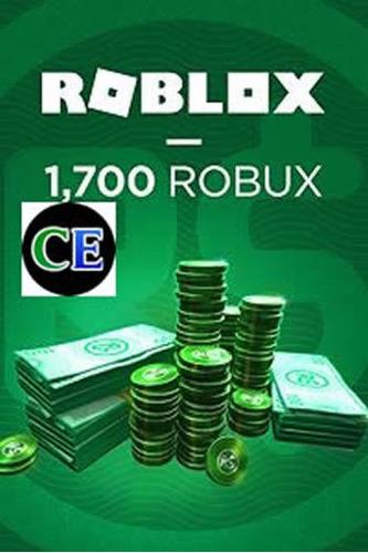 roblox - 1700 robux - entrega inmediata
