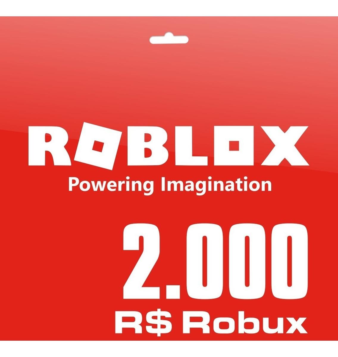 Roblox 2000 Robux Pc Gift Card Entrega Digital Inmediata