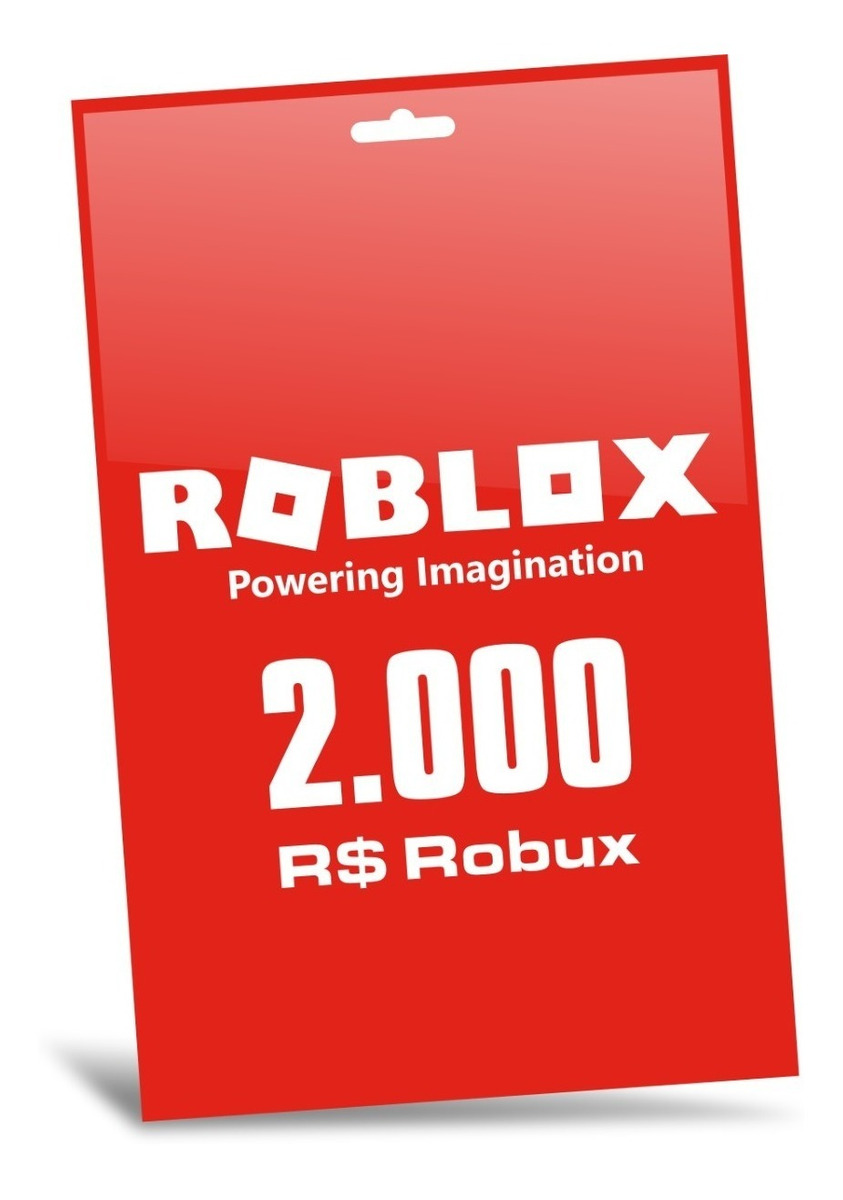 Roblox 2000 Robux Pc Gift Card Entrega Digital Inmediata ...