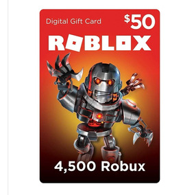 Roblox Robux Tarjeta Gift Card 50 Pc
