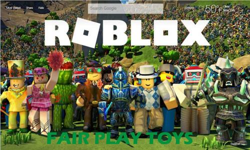roblox set x 6 muñecos desarmables - fair play toys