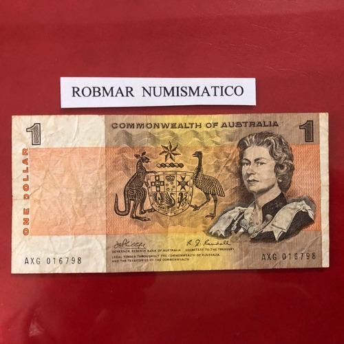 robmar-australia-billete de 1 dolar del 1969