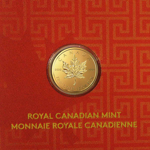 robmar-canada-1 gramo de oro 0,9999 en blister sellado