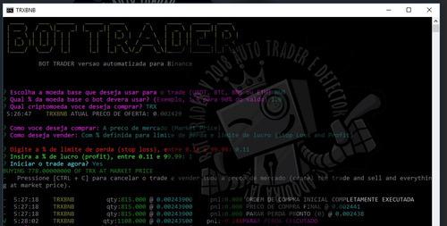 robo \ bot trader compra e venda de criptomoedas