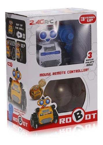 robo de controle remoto inteligente 2 em 1 com bola de rolar
