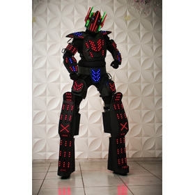 Robô De Led + Bazzuka  Fantasia Completa