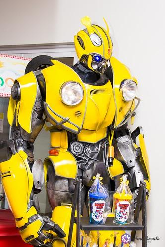 robo de led locação bumblebee 2,40 de altura