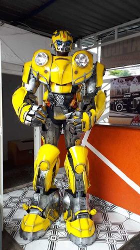 robo de led locação bumblebee ou robotron 2,40 de altura