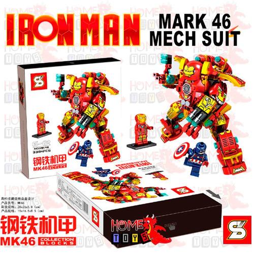 robo iron man homem de ferro mk46 blocos compativeis