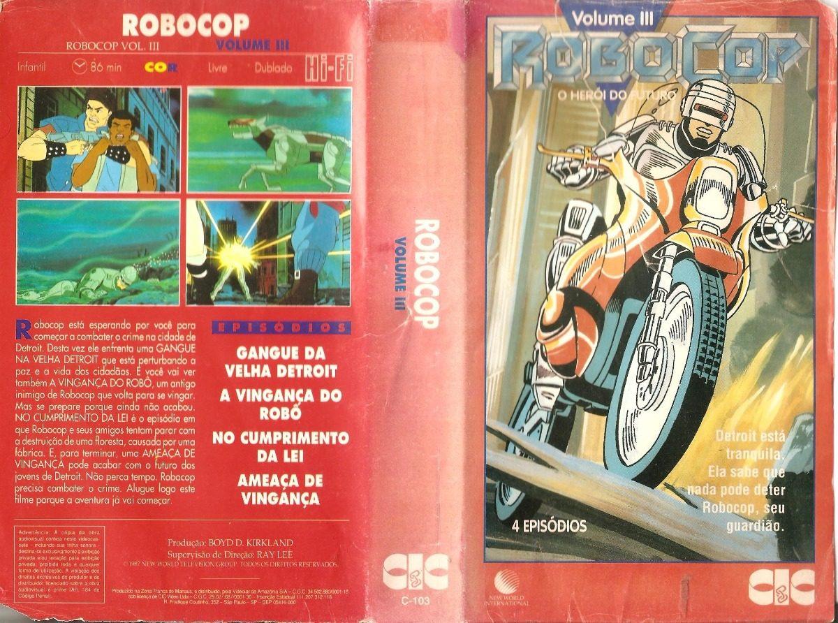 Robocop Heroi Do Futuro Desenho 1 E 3 Dublado R 80 00 Em