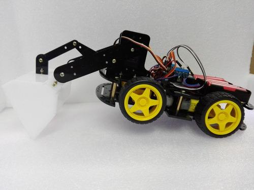 robot arduino cargador frontal  robotica