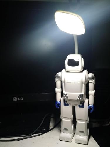 robot astronauta velador lampara  luz led