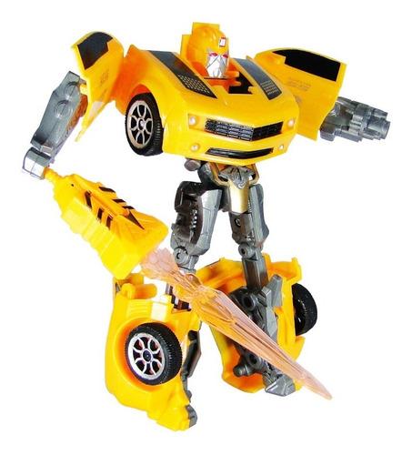robot auto transformable transformer 2 modelos juguete niño