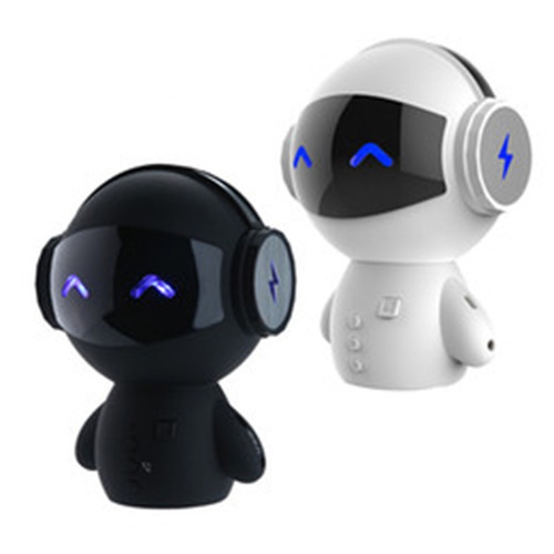 robot bocina portátil bluetooth power bank microsd tfcard