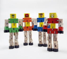 Robot De Madera Transformar Juguete De Madera Didacticos