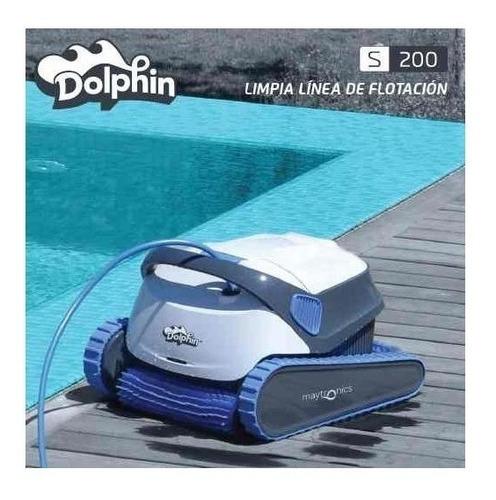 robot dolphin barrefondo limpia piscina s200 pileta