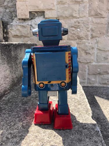 robot juguete espacial antiguo lámina horikawa japón 60s