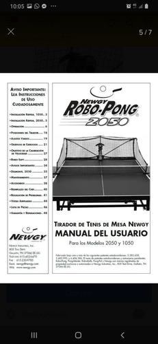 robot lanza pelotas tenis de mesa robo pong 2050