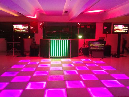 robot led  discplay miniteca dj luces led fuego frio  show
